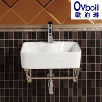 挂墙式陶瓷洗脸盆艺术盆阳台洗手池带架挂盆洗手池小户型浴室面盆