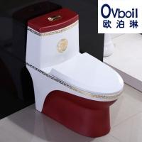 潮州彩色马桶陶瓷卫浴连体坐便器承接OEM工程厂家直销批发特价