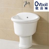 批发陶瓷拖把桶分体落地款墩布池浴室拖布池洗衣池承接OEM贴牌