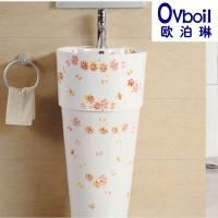潮州厂家直销立柱盆陶瓷艺术柱盆阳台立式洗手盆洗手间洗脸盆特价