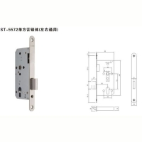史丹利五金-ST-5572单方舌锁体(左右通用)