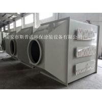 温州鞋厂激光打标废气处理设备.水喷淋加活性炭吸附