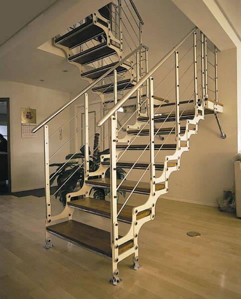 u型楼梯手绘效果图