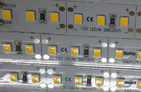 24V和12V 12MM宽1米120灯2835硬灯条
