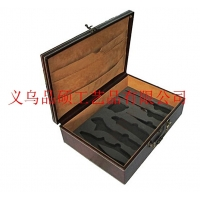品硕供应 皮质茶具盒 碗筷刀具盒 用餐刀叉盒,可定做