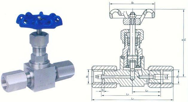 jjm1 卡套针型阀结构图