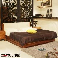 东南亚槟榔色家具储物床水曲柳实木家具双人床1.8米1.5米大