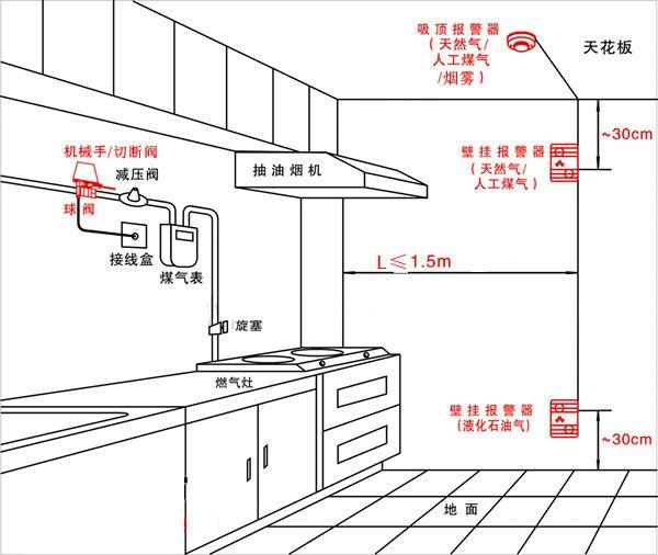 带语音功能的家用燃气报警器