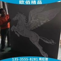 铝板冲孔组成动物图案 花草形的冲孔铝板装饰