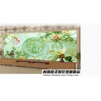 福建泉州愛空間瓷磚背景墻 玉雕牡丹背景墻 3D立體