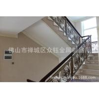 别墅装饰楼梯铝艺雕花镂空镀仿古铜楼梯护栏