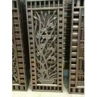 别墅欧式装饰屏风铝板镂空花格古铜色屏风