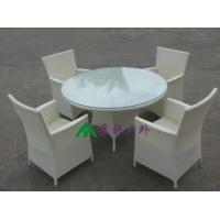 户外仿藤桌椅 藤制简约桌椅 花园时尚桌椅