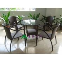 供应户外时尚编藤桌椅 休闲编藤桌椅 花园桌椅 咖啡厅桌椅