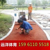 广场彩色透水混凝土 生态透水路面材料 江苏透水地坪设计施工