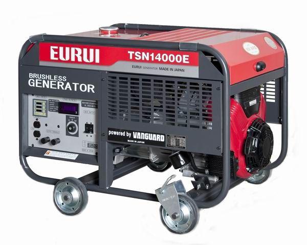 原装日本东洋EURUI汽油大功率10KW单相发电机组TSN1