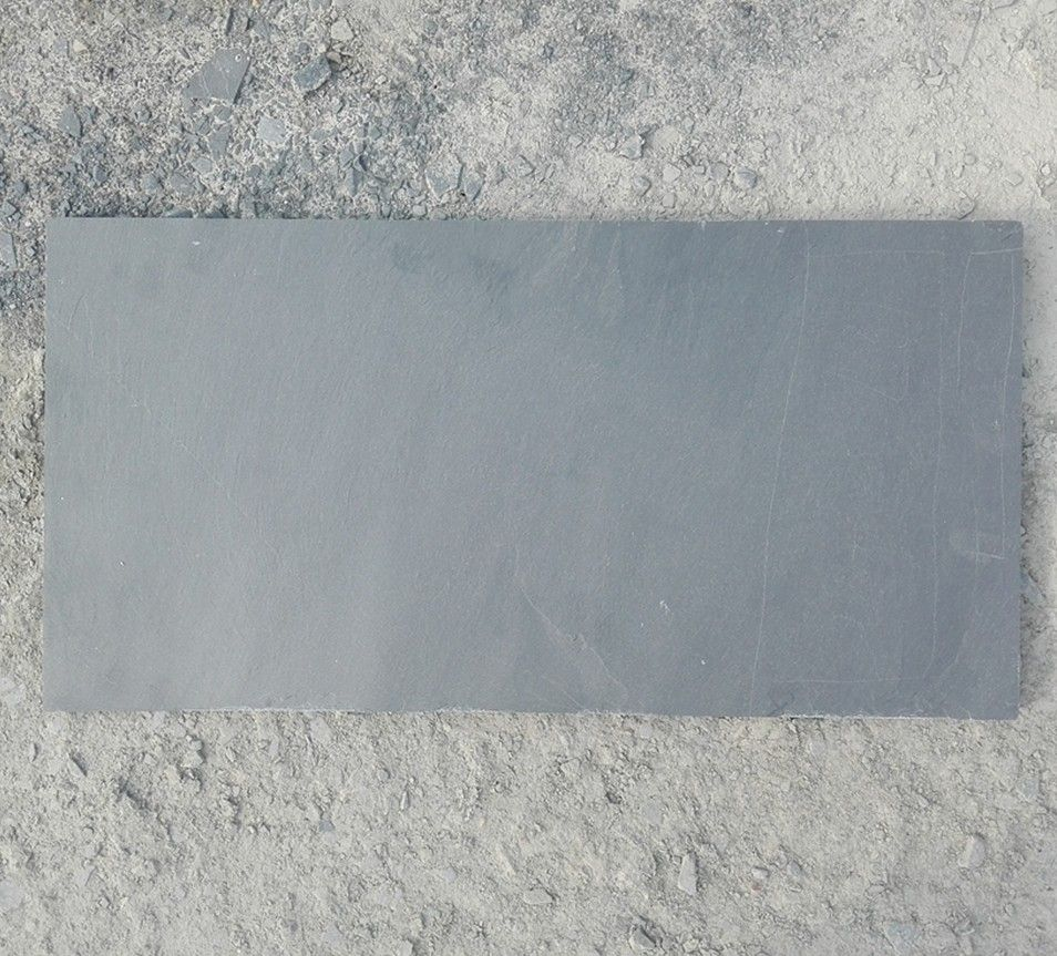 青石板天然黑色板岩文化石地板园林铺地石