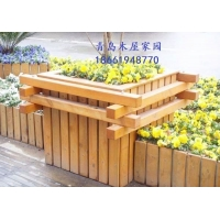 青岛防腐木优质木花箱