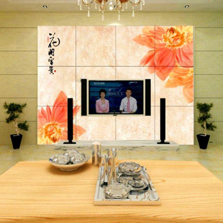 供应华玉堂瓷砖背景墙003花开富贵电视背景墙瓷砖