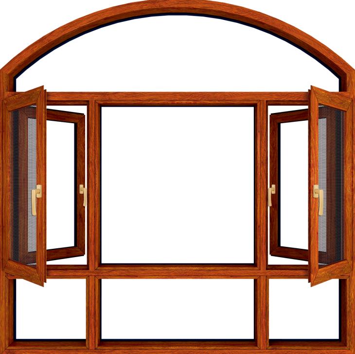 全铝隔热断桥窗纱一体窗