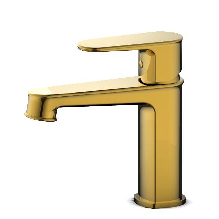 邦拿卫浴 高档单孔冷热面盆龙头 08011B 金色