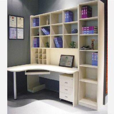 日照整体书柜-好莱客衣柜-时尚电脑台组合书柜图片