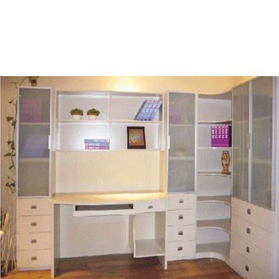 日照整体书柜 好莱客衣柜 时尚电脑台组合书柜
