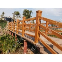 遂宁新型精细水泥桥梁仿木栏杆