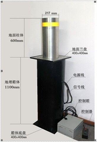 咸阳关中监狱液压一体全自动升降柱安装完成