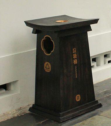 复古风仿木垃圾桶(FMLJT-016)