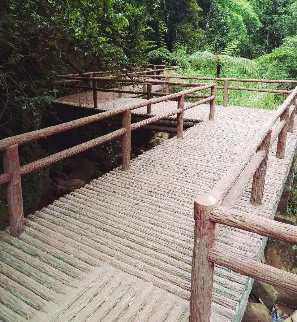 赤水河景区防树皮栏杆,地板