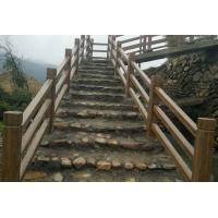 农家梯步仿木栏杆