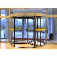 酒店专用三翼豪华旋转门自动感应四翼旋转门环柱型旋水晶门