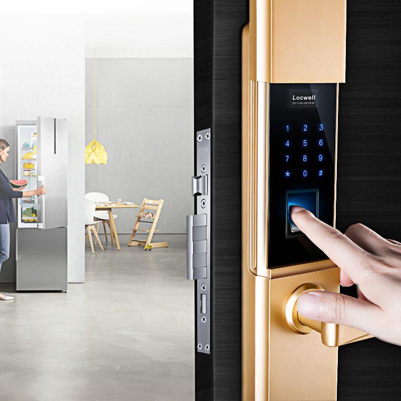 合悦丰A60智能锁 滑盖指纹密码锁 家用防盗门密码