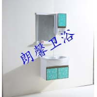 朗馨卫浴艺术玻璃浴室柜
