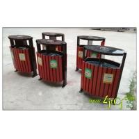 户外木条垃圾桶   振华钢木垃圾桶