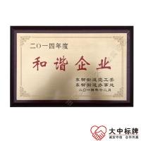 木托铜质腐蚀|蚀刻拉丝面企业奖牌 政府单位颁发铜牌