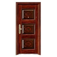 9公分中式转印木纹色至豪门 钢质进户门入户门