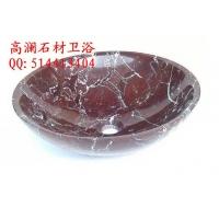 紫罗红大理石洗手盆