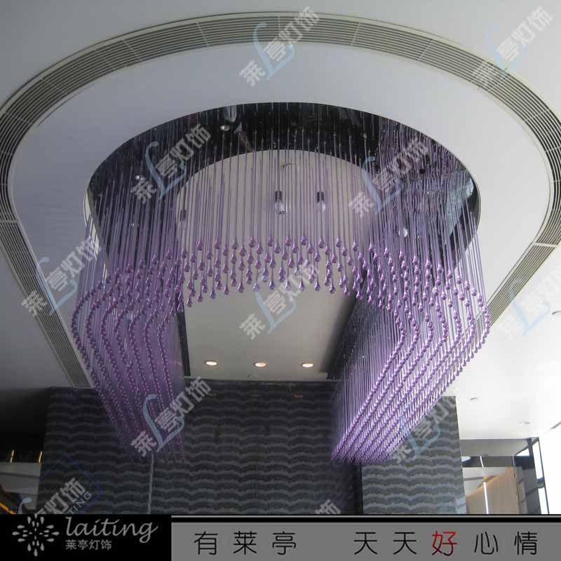 豪华酒店欧式大堂水晶灯定制宴会厅吸顶灯会所灯