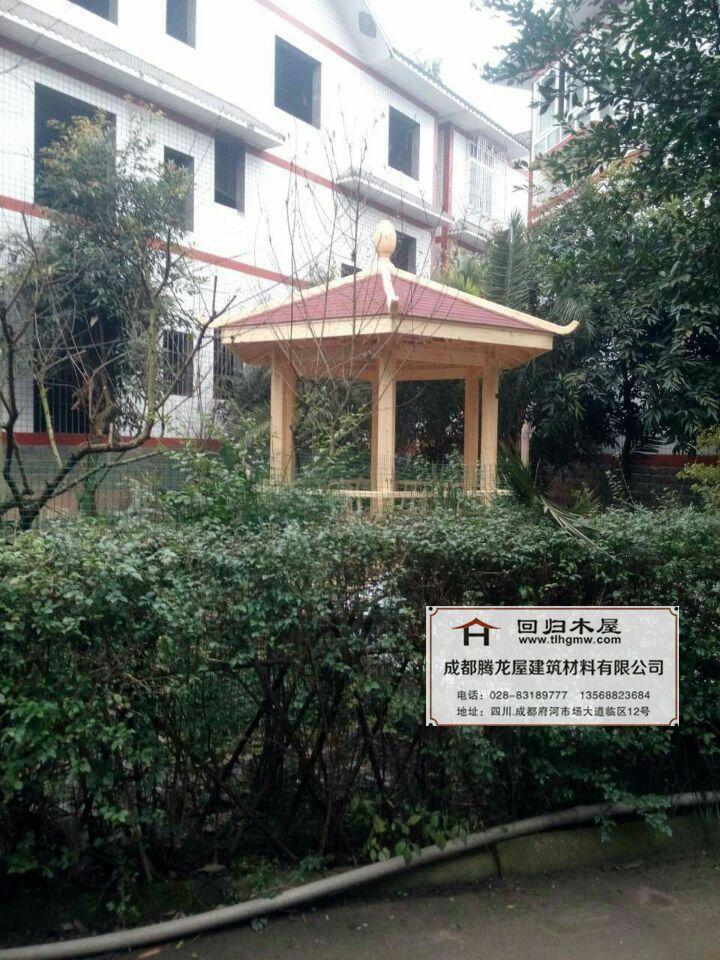泸州六角凉亭户外防腐木10