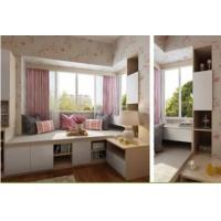 索菲亚版飘窗上的小书房|卧室配套家具|书柜定制