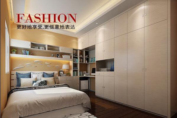 现代简约卧室配套家具定制推拉门衣柜