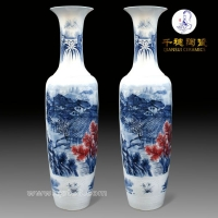 开业陶瓷大花瓶   公司酒店开业陶瓷大花瓶