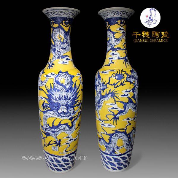 落地大花瓶 陶瓷落地大花瓶的素颜之美