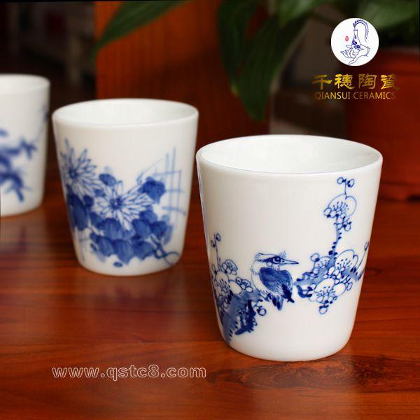 单个水杯简笔画-陶瓷杯子定制 景德镇陶瓷杯子定制 手绘陶瓷杯子定制