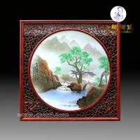 圆瓷片_景德镇手绘圆形瓷片瓷板瓷画瓷板画