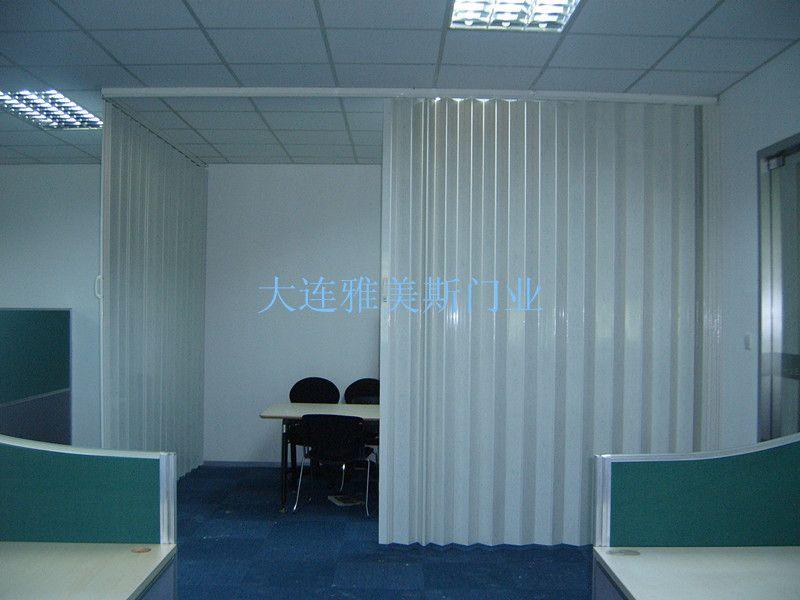 运动馆pvc折叠门pvc推拉门塑料折叠门