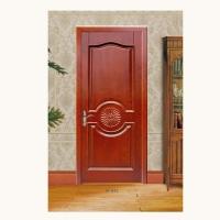 满堂红木门-平板门