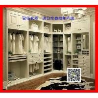 欧式包覆吸塑系列整体衣柜壁柜宜佰衣柜进口全自动生产线